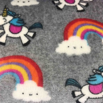 Unicorn rainbow - Coral fleece